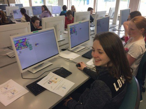 6th Class enjoy Scratch workshop at IADT