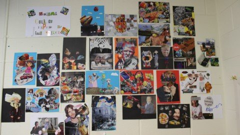 Collage making in 5th Class
