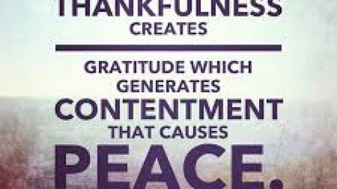 December 2017: Thankfulness and Peacefulness
