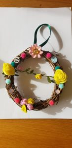 My colourful Easter wreath!
