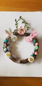My forest themed Easter wreath!