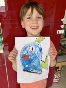 Fionn's painting, he was very proud